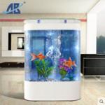 欧宝大型鱼缸水族箱(80厘米至1.2米)亚克力生态屏风吧台大型鱼缸定做 价格 ¥ 250.00-2450.00