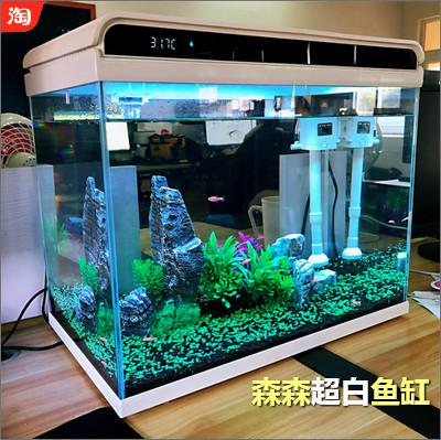 森森超白鱼缸,小型桌面家用水族箱