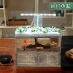 适合办公室摆放的小型鱼缸汇总 - 迷你鱼缸虾缸推荐 让办公室充满生机